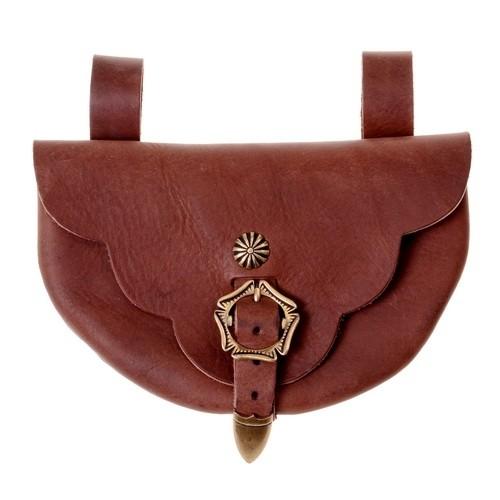 Tasche von Runneburg - Mittelalterliche Gürteltasche aus Leder