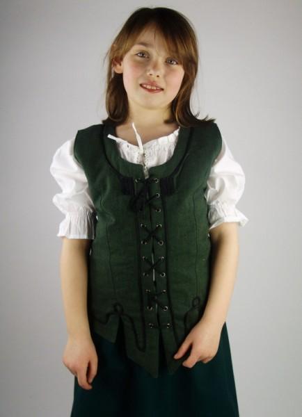 Mädchen Miederweste - Kostüm Gewand für Mittelalter, Larp & Reenactment Kinder