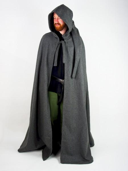 Umhang Mantel Halbkreismantel aus Wolle - Gewand für Mittelalter, Larp und Reenactment
