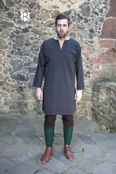 Untertunika Leif, Schwarz Mittelalterliches vom Burgschneider