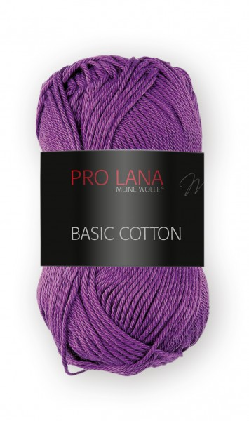Basic Cotton Farbe: 45 violett von Pro Lana 100 % Baumwolle