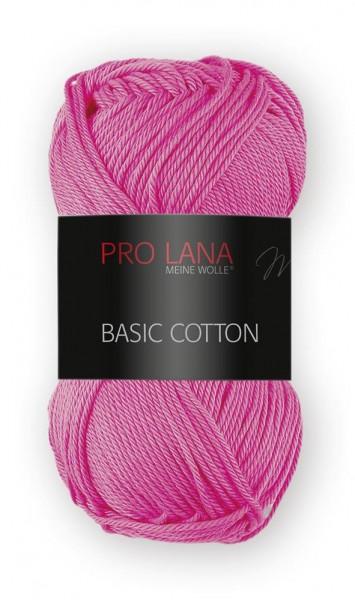 Basic Cotton Farbe: 36 pink von Pro Lana 100 % Baumwolle