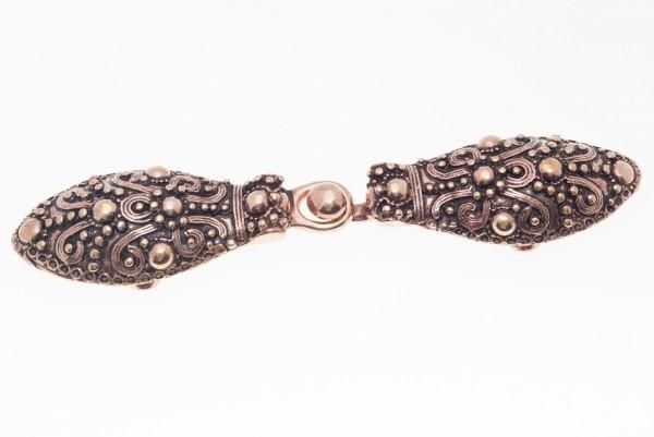 Fibel Brosche 'Gilby - Wikinger Gewandschließe' aus Bronze - Mittelalter, Larp, Fantasy Schmuck