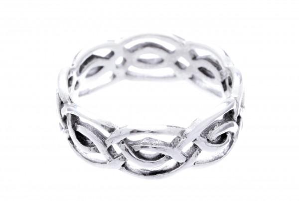 Lian Silber 925 Ring im keltischen Stil - Schmuck Accessoire für Historische Gewandungen, Reenactmen