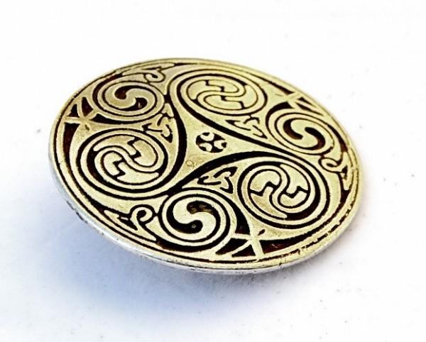XXL Keltische Zierniete Triskele -Zubehör für Gürtel und Lederarbeiten für Reenactment und LARP
