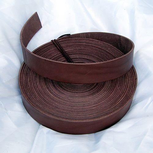 Endlosriemen 4 cm breit für sehr lange Gürtel aus Rinderkernleder - Natur, schwarz oder braun