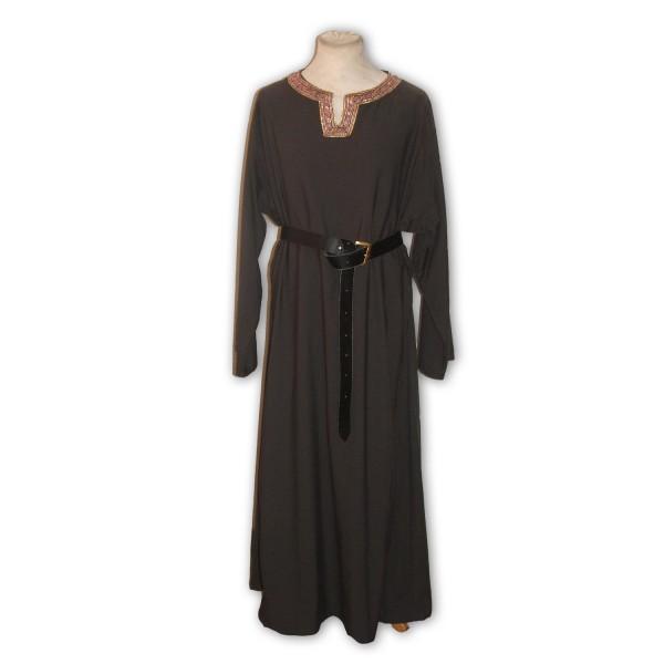Baumwoll Cotte mit rundem Hals und langen Ärmeln- Gewand Maßanfertigung Mittelalter und Larp