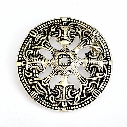Scheibenfibel aus Norwegen im Borrestil Bronze