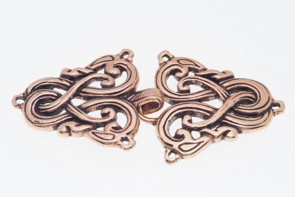 Wikinger Gewandschließe mit Drachen aus Bronze für Mittelalter, Reenactment und Larp