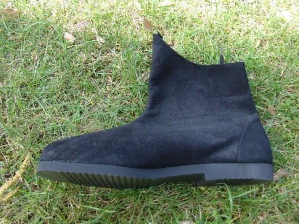 Mittelalter Halbstiefel aus Wildleder schwarz - Mittelalterliches Schuhwerk
