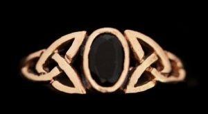 Celtic Ring Celtic Myth Schwarz, Bronze - Schmuck Accessoire für Historische Gewandungen, Reenactmen