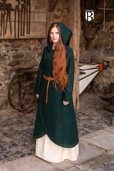 Mantel Enya Wollmantel Grün Mittelalterliches vom Burgschneider