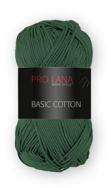 Basic Cotton Farbe: 72 waldgrün von Pro Lana 100 % Baumwolle