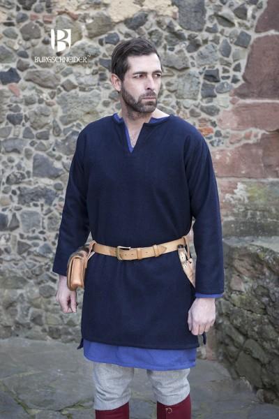 Wolltunika Lodin, Blau Mittelalterliches vom Burgschneider