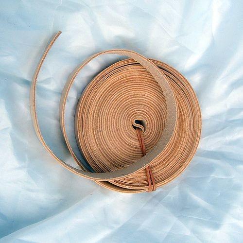 Endlosriemen 1,5 cm breit für sehr lange Gürtel aus Rinderkernleder - Natur, schwarz oder braun