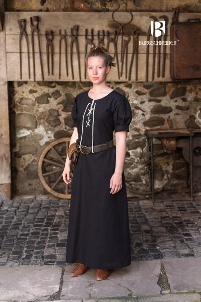 Frauengewand Gretl, Schwarz Mittelalterliches vom Burgschneider
