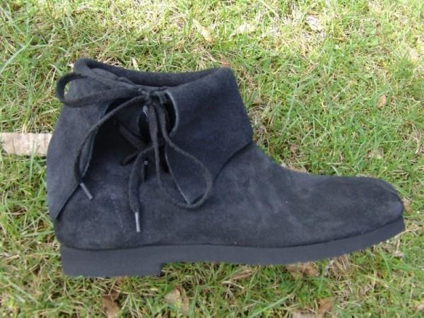 Mittelalter Halbstiefel mit Stulpe schwarz - Mittelalterliches Schuhwerk