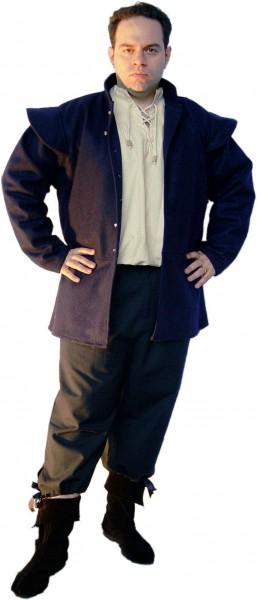 Jacke mit abnehmbaren Ärmeln aus Wolle - Gewand für Mittelalter und Larp Kostüme und Fantasy