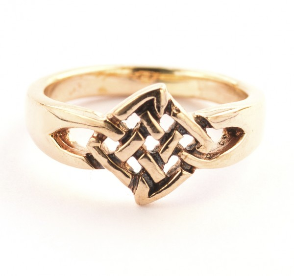 Brigid Bronze Ring im keltischen Stil - Schmuck Accessoire für Historische Gewandungen, Reenactment