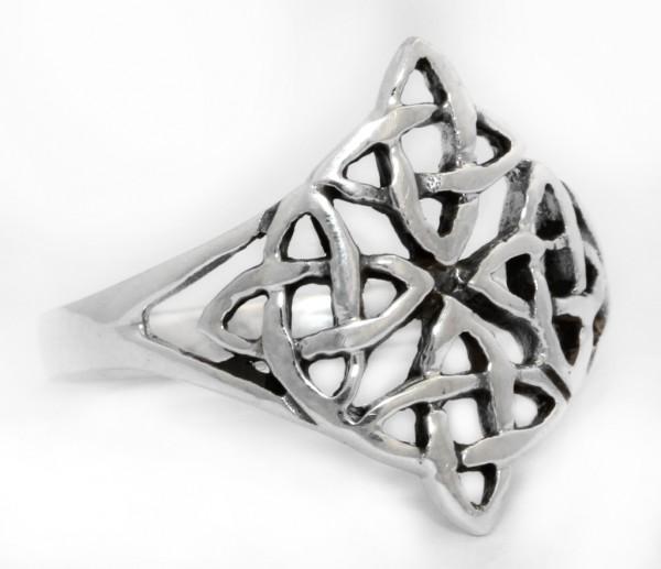 Taina Silber 925 Ring im keltischen Stil - Schmuck Accessoire für Historische Gewandungen, Reenactme