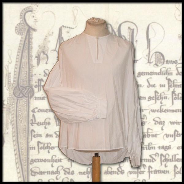 Weites Hemd, Kragenlos - 100 % Baumwolle - Mittelalter und LARP Gewand Maßanfertigung