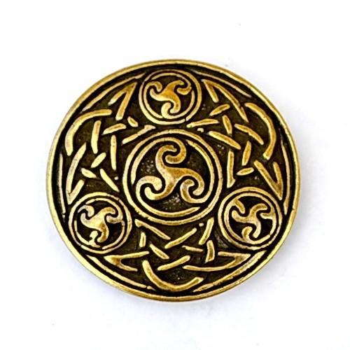 XXL Keltische Zierniete Spiralen -Zubehör für Gürtel und Lederarbeiten für Reenactment und LARP