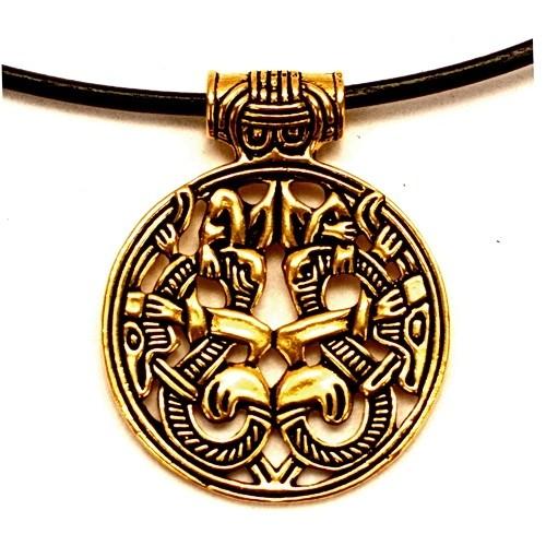 Wikinger Amulett Varby Bronze - Replik Nachbildung nach Originalfund