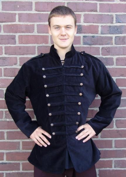 Jacke im Uniformstil aus Samt- Gewand für Mittelalter und Larp Kostüme und Fantasy