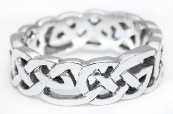 Fiona Silber 925 Ring im keltischen Stil - Schmuck Accessoire für Historische Gewandungen, Reenactme