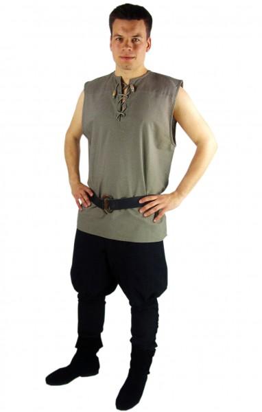 Ärmelloses Schnürhemd Hanf - Gewand für Mittelalter, Larp und Reenactment