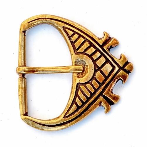 Hochmittelalter Schnalle 4.5 cm -Zubehör für mittelalterliche Gürtel für Reenactment und LARP