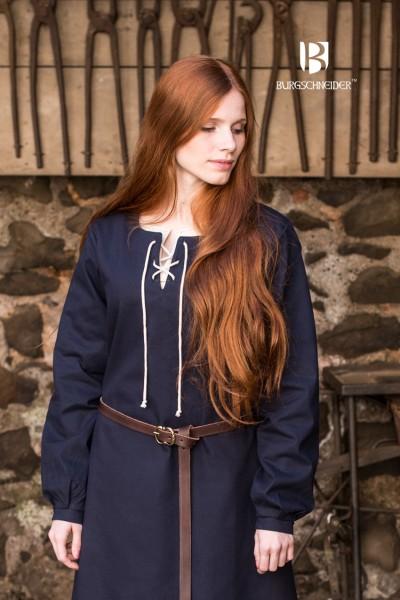 Gewand Cilie, Dunkelblau Mittelalterliches vom Burgschneider
