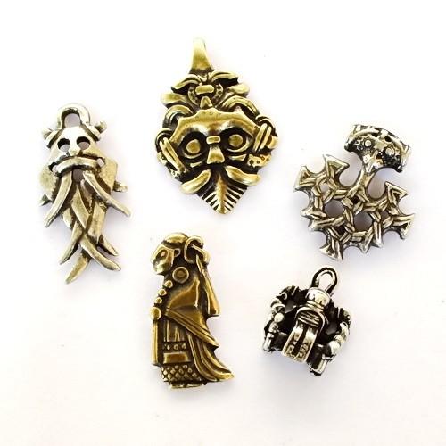 Amulett Set A Wikinger Anhänger - Anhänger Schmuck Mittelalter Larp