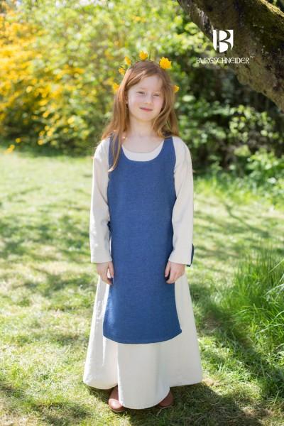 Kinderüberkleid Ylva, Meerblau Mittelalterliches vom Burgschneider