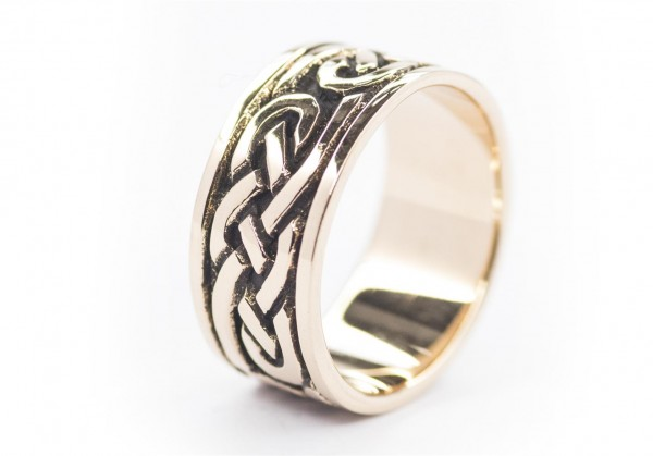 Thoran Bronze Ring im keltischen Stil - Schmuck Accessoire für Historische Gewandungen, Reenactment