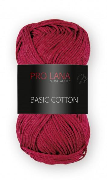 Basic Cotton Farbe: 38 cochenillerot von Pro Lana 100 % Baumwolle