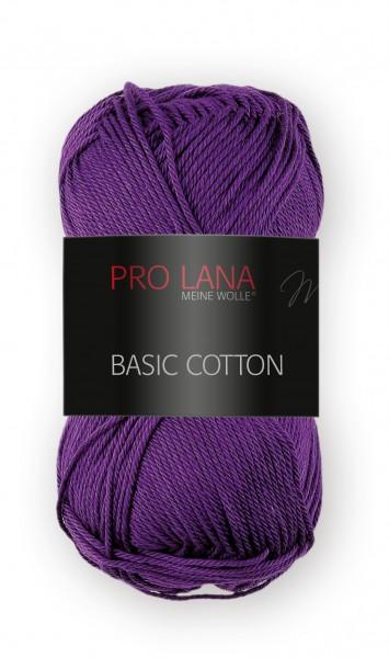 Basic Cotton Farbe: 47 purpur von Pro Lana 100 % Baumwolle