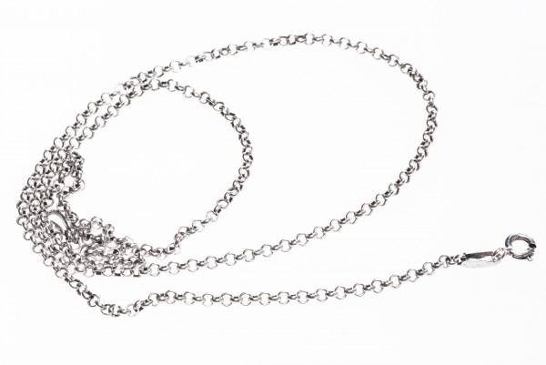 Feine Wikingerkette 45 cm, Silber - Accessoire Schmuck für Mittelalter, Larp, Reenactment und Fantas