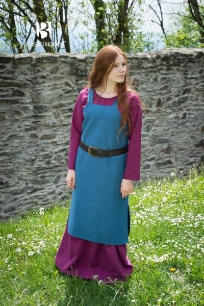 Wikingerkleid Frida, Meerblau Mittelalterliches vom Burgschneider