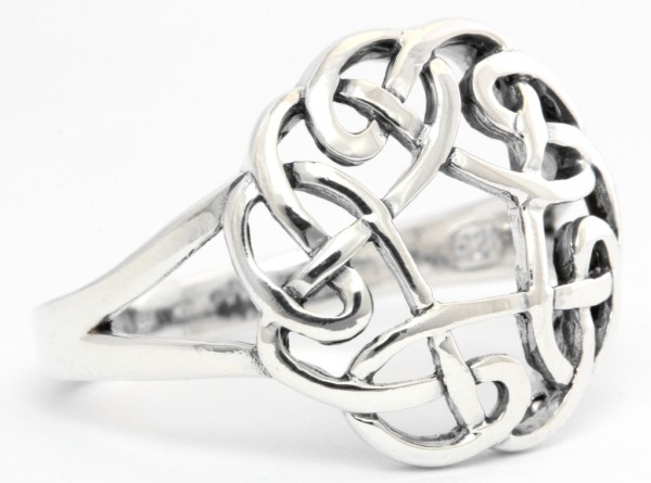 Blume des Lebens Silber 925 Ring im keltischen Stil - Schmuck Accessoire für Historische Gewandungen