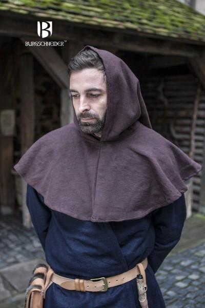 Gugel Capellus, Braun Mittelalterliches vom Burgschneider