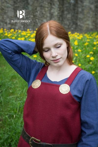 Wikingerkleid Jodis, Wolle Rot Mittelalterliches vom Burgschneider