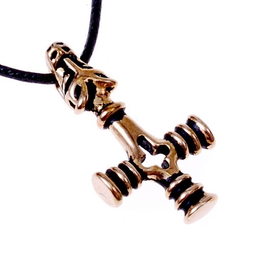 Anhänger Mjölnir von Island klein - Bronze Anhänger Replik