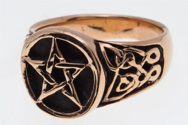 Àsvar Bronze Ring im keltischen Stil - Schmuck Accessoire für Historische Gewandungen, Reenactment u