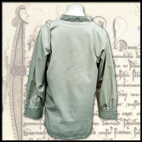 Einfaches Hemd mit Kragen - 100 % Baumwolle - Mittelalter und LARP Gewand Maßanfertigung
