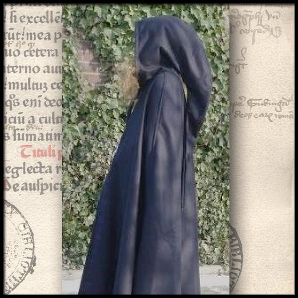 Überlanger Umhang lange Kapuze aus Wolle - Gewand für Mittelalter, Larp und Reenactment