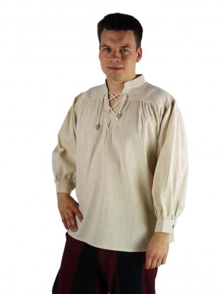 Bauernhemd Leinen Schnürhemd - Mittelalter Gewand, Larp und Reenactment
