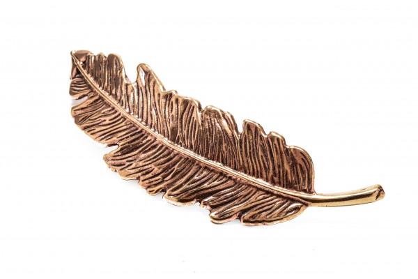 Fibel in Form einer Feder Bronze Schmuck