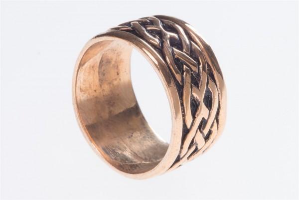Taranis Bronze Ring im keltischen Stil - Schmuck Accessoire für Historische Gewandungen, Reenactment
