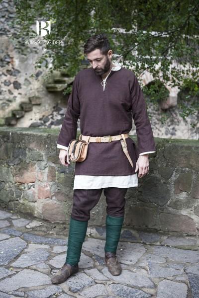Kurztunika Erik, Braun Mittelalterliches vom Burgschneider